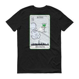 Absinthe Tarot Card Graphic Tee Black Tshirt Goth